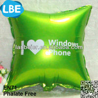 En71 helium gas foil balloon in ballon advertisment