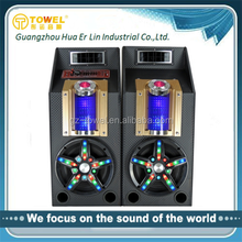 2.0 active stage dj disco speaker/ speaker with light /USB/SD/FM+woofer portable home audio