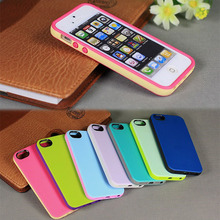 for iphone 5s dual color tpu mobile phone case