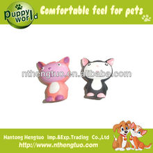 cute cat shaped pet latex toy,pet squeaky toy