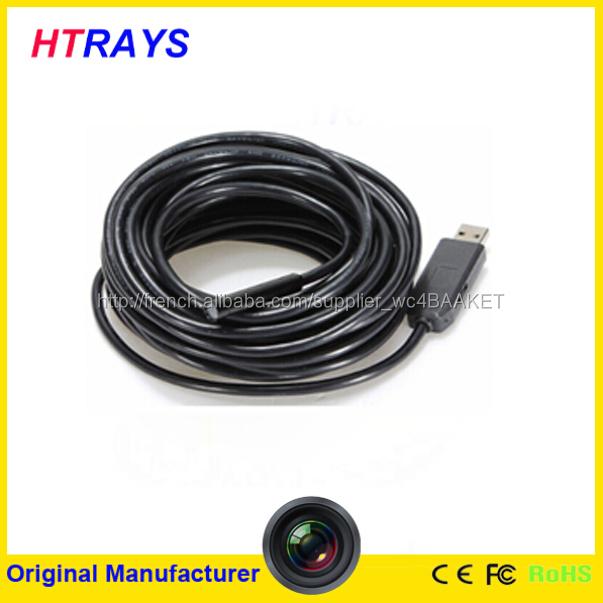 Avec crochet, Magent, Miroir 9 mm lentille Mini USB 2.0 imperméable Endoscope Endoscope serpent Inspection caméra 7 M
