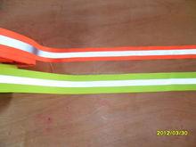 Wholesale 5cm Width Orange / Yellow Reflective Safety Ribbon