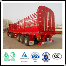Truck trailer type 3 axles two storages 50 head cow livestock fence truck trailer/cattle transport trucks and trailers for sale