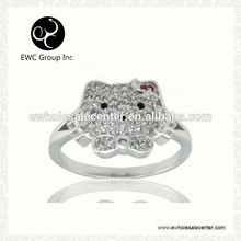 r ring rhodium plating factory direct sale