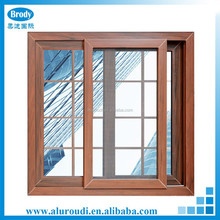 Cheap Price Tempered Sliding Window with grill design