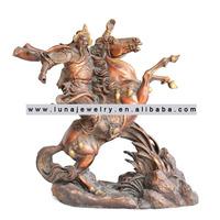Brass Material Chinese Kwan Kong statue ride a horse, ,fengshui Kuan Kong ,Guan Gong