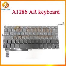"""original AR Keyboard Backlit Backlight for MacBook Pro 15"""" A1286 Arabic 2011 2012 c/w 2009 2010 (SUPER ERA)"""