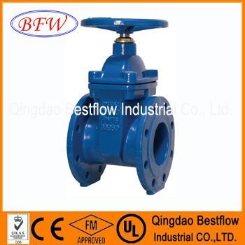 AWWA C509/BS5163/DIN3352 Mss sp stem gate valve pn16