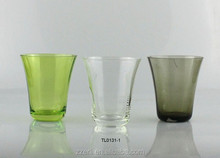 Colored glass water cup,tumbler glassware,drinking glassware table set