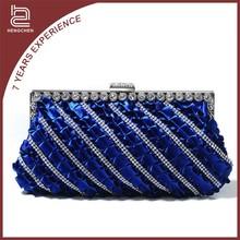 Diamond crystal wholesale satin clutch bag women