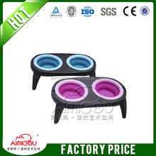 2015 wholesale outdoor travel pet bowl / silicone collapsible cat bowl