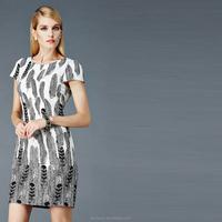 High-end nice straight cutting ladies dress korean design