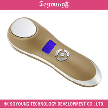 facial ultrasonic beauty hot cold massage device