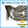 Stainless steel braided teflon smoothbore ptfe hoses