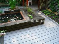 Composite plastic balcony anti-slip WPC covering flooring