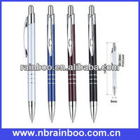 2013 Hot selling nice design aluminium barrel promotional metal pen with parker refill