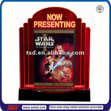 LED acrylic advertsing light box,film promotion display,acrylic table stand