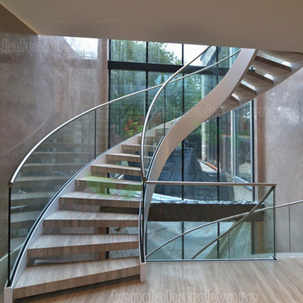 Helical Sweeping Staircase With Marble Treads Structural