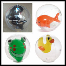 frog inside inflatable Beach Ball ,toys inside /animal inside beach ball