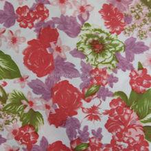 100polyester flower printed fabric /digital printed fabrics