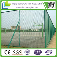 2014 Top selling plastic defenses hing quality galvanized PVC PE coated chain link fence for playground