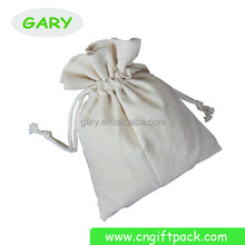 Wholesales White Blank Cotton Storage Ode Removing Package Drawstring Bags