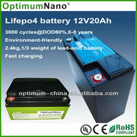 12v 20ah lithium starter battery replace sealed lead acid battery for car