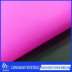370T 0.3cm*0.35cm Ripstop nylon taffeta windproof fabric