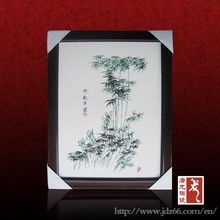 Delicate design modern flower figure hand painted ceramic art painting for restaurant decoration