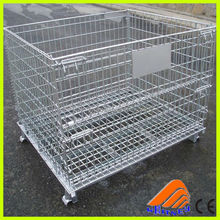 metal folding storage mesh cage wire box,water bottle cage,simple design metal cage