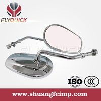 SF103 universal black and chrome convex rearview mirrors motorcycle for harley-davidson for sale from china manufacturer