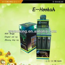 Top rank Vogue style e hookah cartridge 800puffs ecig with EXW price