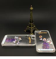 New Arrival cartoon halloween phone case liquid pc animal case for iphone 5/6/6P