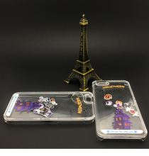 New Arrival cartoon halloween phone case liquid pc animal case for iphone 5/6/6P