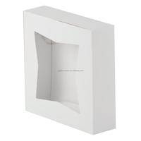 2015 Window White Design Cake Box for Wedding Window Box Packaging