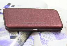 2015 Fashion Shiny Gold Clutch Evening Purse Wallet Clip Credit Card Key Wallet Purse Make-up Pen Box Case