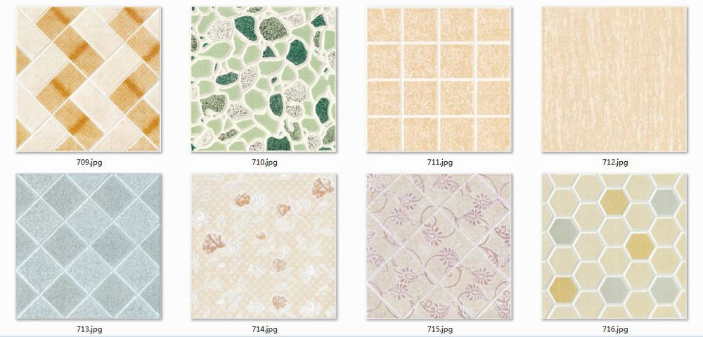 Non slip ceramic tile flooring
