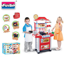 Hot selling toys big kithcen set toys with light and sound kitchen tool set
