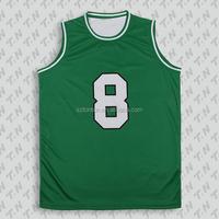 European best green basketball jersey design