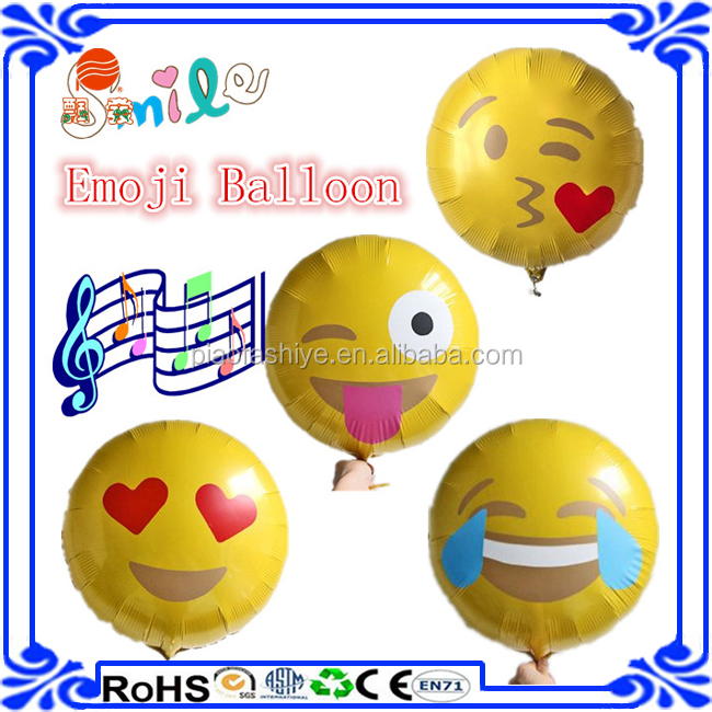 Hot Sale New Products 2016 Fashion 18 Inch Gold Emoji
