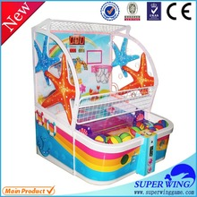 2015 wholesale new arrival coin operated luxury street basketball game