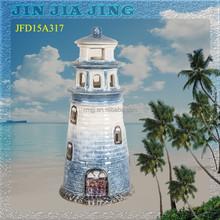 blue lighthouse model home decoration ceramic souvenir