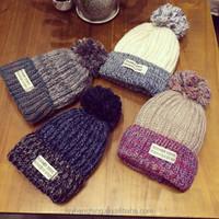 Factory wholesale hairy winter women hat crocheted hat
