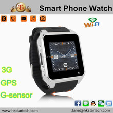 New arrival 3G WCDMA Android Smart Watch Phone Quad-band 2.0MP Camera Anti-lost