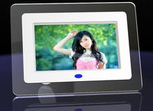 7 inch digital photo frame with blue light