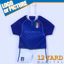 Italy hanger and suction small coth car window mini jersey unique mini T-shirt