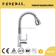 LB-E8003 china supplier pull out spring brass kitchen sink mixer, flexible kitchen faucet