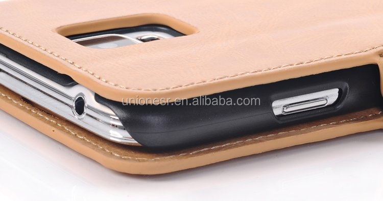 Paypal accept factory price flip leather case for samsung s5