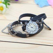 Metal Bracelet watch genuine crocodile leather watch band leather lady watch SY-35042