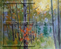 $23.50 size 80x60cm Wholesale High quality Oil painting canvas forest